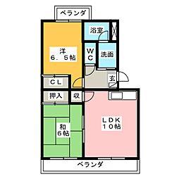 フローラ[3階]の間取り