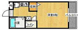 ツインホースII[307号室]の間取り
