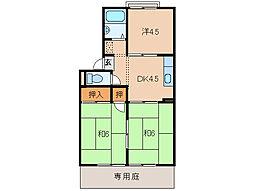 ハイツコイケII[1階]の間取り