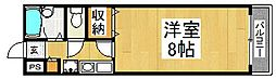 大阪府堺市北区百舌鳥梅北町4丁の賃貸マンションの間取り