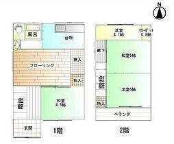 [一戸建] 兵庫県尼崎市浜田町4丁目 の賃貸【/】の間取り