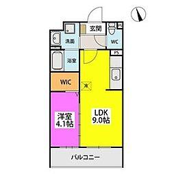 SOPHIA TOKUNAGA III 4階1LDKの間取り
