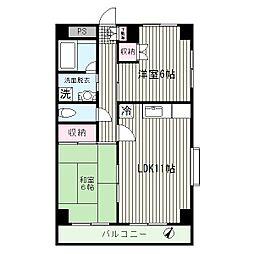 東京都江戸川区中葛西6丁目の賃貸マンションの間取り