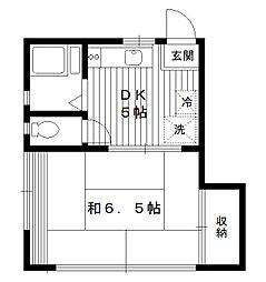東京都練馬区豊玉中2丁目の賃貸アパートの間取り
