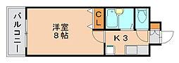 リファレンスイ−ストパ−ク[2階]の間取り