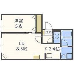 Halley View 東札幌[3階]の間取り