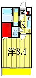千葉県習志野市大久保4丁目の賃貸マンションの間取り
