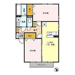 ラピス・スクェア[2階]の間取り
