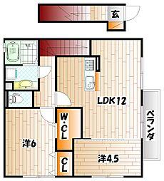 ザ スタンド ロック[2階]の間取り