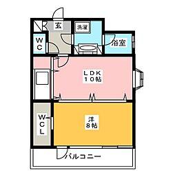 ステイツ天神東II[5階]の間取り