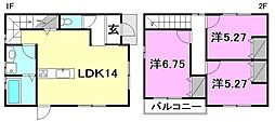 [一戸建] 愛媛県松山市吉藤2丁目 の賃貸【/】の間取り