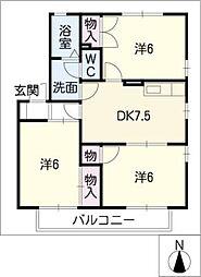 ファミールアイ[2階]の間取り