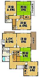 [一戸建] 兵庫県川西市美山台3丁目 の賃貸【/】の間取り