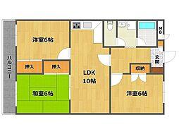 兵庫県伊丹市瑞原3丁目の賃貸マンションの間取り