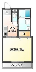 Heights DVG[1階]の間取り