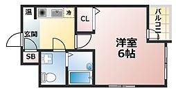 兵庫県神戸市灘区大石東町6丁目の賃貸マンションの間取り