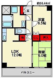 レジデントハウスP-2[4階]の間取り