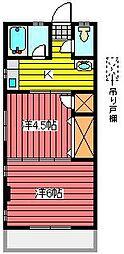 埼玉県川口市西青木4丁目の賃貸マンションの間取り
