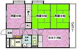 ヨシハラビル[306号室]の間取り