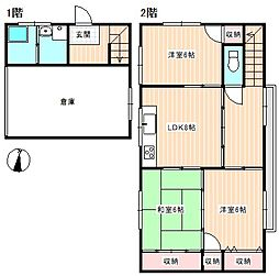 [一戸建] 山口県下関市伊倉本町 の賃貸【/】の間取り