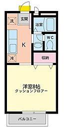 東京都世田谷区砧4丁目の賃貸アパートの間取り