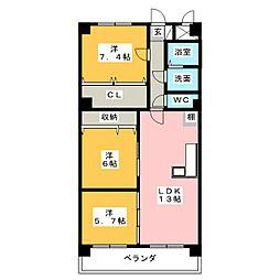 鴻ノ巣ヒルズ[1階]の間取り