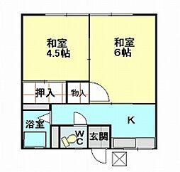 宮坂ハイツ[202号室]の間取り