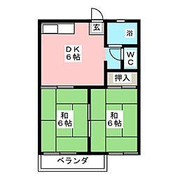 タウニィ鶴正C棟[2階]の間取り