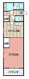エビスジャルダンM&K[2階]の間取り