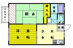 ファミュ鈴木[1階]の間取り