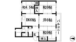 兵庫県川西市清和台東4丁目の賃貸マンションの間取り