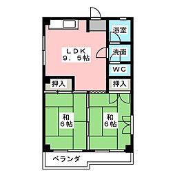 ヴィラコスモス稲沢[2階]の間取り