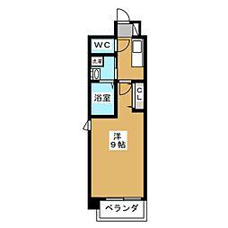 アスヴェル京都市役所前III[5階]の間取り