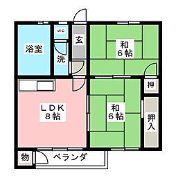 コーポ藤井ビル[4階]の間取り