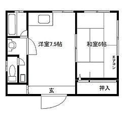 東京都墨田区東駒形1丁目の賃貸マンションの間取り
