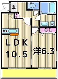 仮称)加平3丁目新築アパート[304号室]の間取り