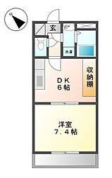 東京都調布市緑ケ丘2丁目の賃貸マンションの間取り