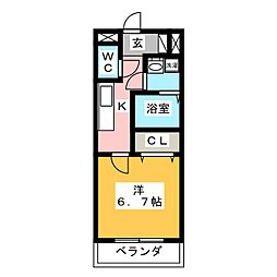 コンフォート・テラス[3階]の間取り