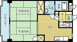 クレベール片野[6階]の間取り