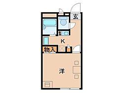 レオパレスセントラル島崎[2階]の間取り