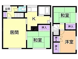 [一戸建] 北海道札幌市東区北四十六条東12丁目 の賃貸【/】の間取り