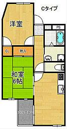 サンシャイン中野[4階]の間取り