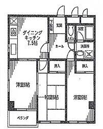 第6さくらコーポ[3階]の間取り