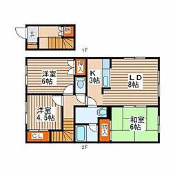 北海道札幌市西区宮の沢一条3丁目の賃貸アパートの間取り