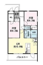 (仮)青島マンション[0401号室]の間取り