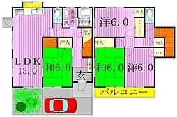 [一戸建] 千葉県柏市逆井2丁目 の賃貸【/】の間取り