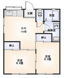 星崎第2アパート[211号室]の間取り