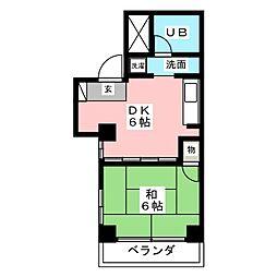サンライスマンション[3階]の間取り