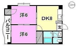 木山ビル[401 号室号室]の間取り
