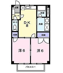 トレジャー1号館[1階]の間取り